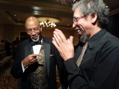 Juan Huey-Ray and Leon Burke at Shivers Fund Finale