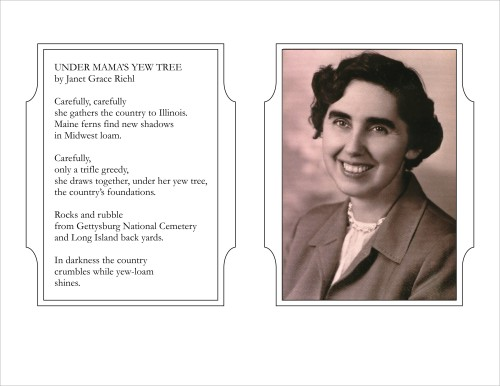 Mother's memorial brochure