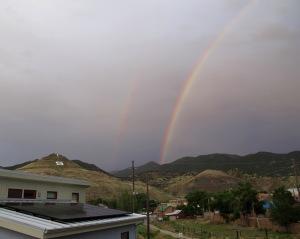 Double rainbow over my neighborhood.